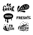 set abstract spray water drop fresh icons vector image vector image