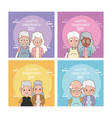 set of grandparents day cards vector image vector image