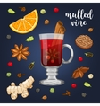set on dark with mulled wine vector image