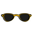 sunglasses fashion lens vector image vector image
