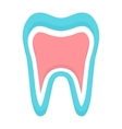 tooth icon logo template dental logo or vector image vector image