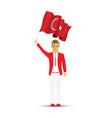 turkey flag waving man and woman vector image