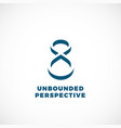 unbounded perspective abstract concept vector image