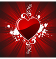 valentines day hearth vector image vector image
