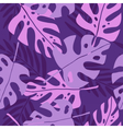 Violet tropical leafs vector image vector image
