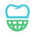 Logo combination of world and tooth vector image
