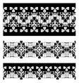 Set of black lace borders isolated on white vector image