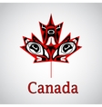 Canadian native maple leaf vector image