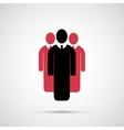 People design 3 man icon vector image