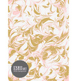 abstract ebru background Gold and pink vector image