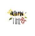 autumn time badge isolated design label season vector image
