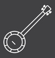 banjo line icon music and instrument vector image vector image