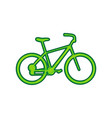 bicycle bike sign lemon scribble icon on vector image vector image