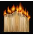 burning board vector image vector image