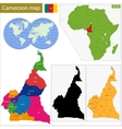 Cameroon map vector image vector image
