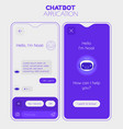Chatbot mobile app concept trendy flat design