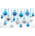 Christmas blue balls vector image