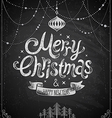 christmas chalkboard card 2 vector image vector image