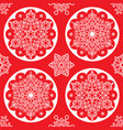 christmas folk pattern - white snowflake ma vector image vector image