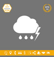 cloud thunderstorm lightning rain icon graphic vector image vector image