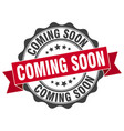 coming soon stamp sign seal vector image vector image