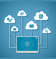 concept of wireless cloud network and distributed vector image