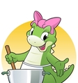 Cooking Dino vector image vector image