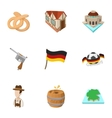 Country Germany icons set cartoon style vector image