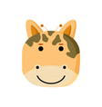 cute giraffe animal head vector image vector image