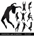 dancing and jumping vector image