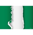 design flag nigeria from torn papers with shadows vector image vector image