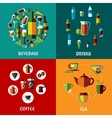 Drinks and beverages flat compositions vector image vector image