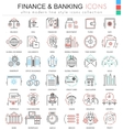 finance and banking ultra modern color vector image vector image