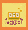 flat shading style icon jackpot lucky seven vector image vector image