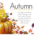 floral watercolor style card design autumn vector image vector image