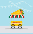food truck logotype for mexican food meal fast vector image vector image