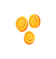 gold coin with dollar sign cartoon vector image vector image
