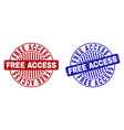 grunge free access scratched round stamp seals vector image vector image