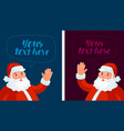 happy santa claus waving christmas xmas new vector image