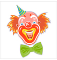 happy smiling red-haired clown vector image vector image