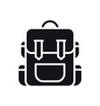 hiking backpack icon touristic camping bag vector image
