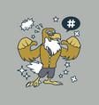 hipster eagle cartoon t shirt design vector image vector image