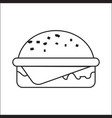 icon depicting a hamburger a simple drawing vector image vector image