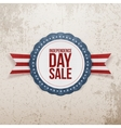 Independence Day Sale realistic Emblem vector image vector image