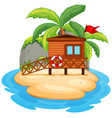 Isolated resort island on white background