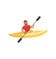 kayaking man water sport activity vector image