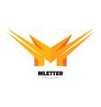 letter m - logo template concept vector image
