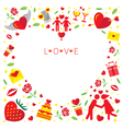 Love Icons Frame and Border vector image vector image