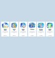 mobile app onboarding screens barbershop beard vector image vector image