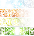 Mosaic banners vector image
